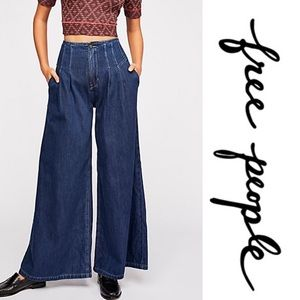 Free People High Rise Wide Leg Jeans | NWT